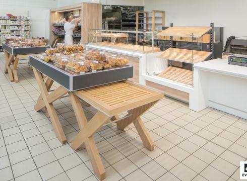 Evéma Agencement de Agencement Boulangerie - Super U Chateaubourg
