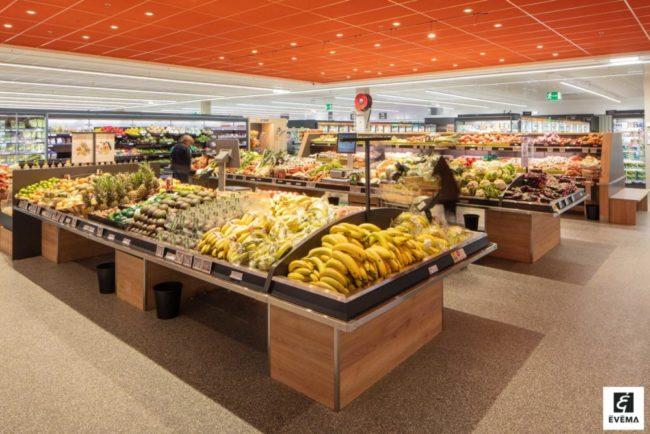 Evema agencement rayon fruits et légumes