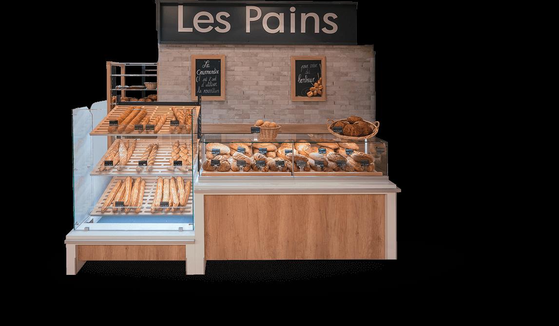 Le mobilier boulangerie, pâtisserie et snacking d'Evéma Agencement