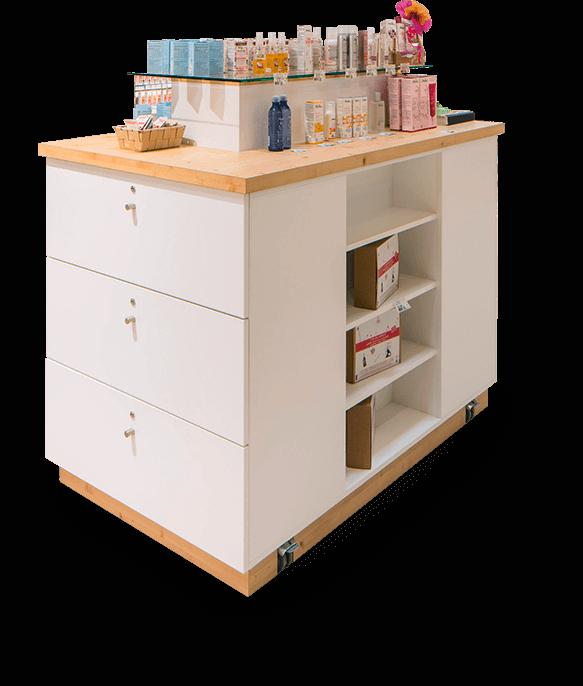 Le mobilier boutiques, commerces & cafétéria d'Evéma Agencement
