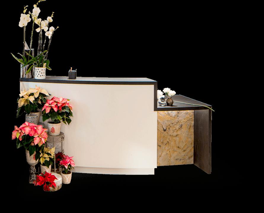 Le mobilier fleuriste d'Evéma Agencement