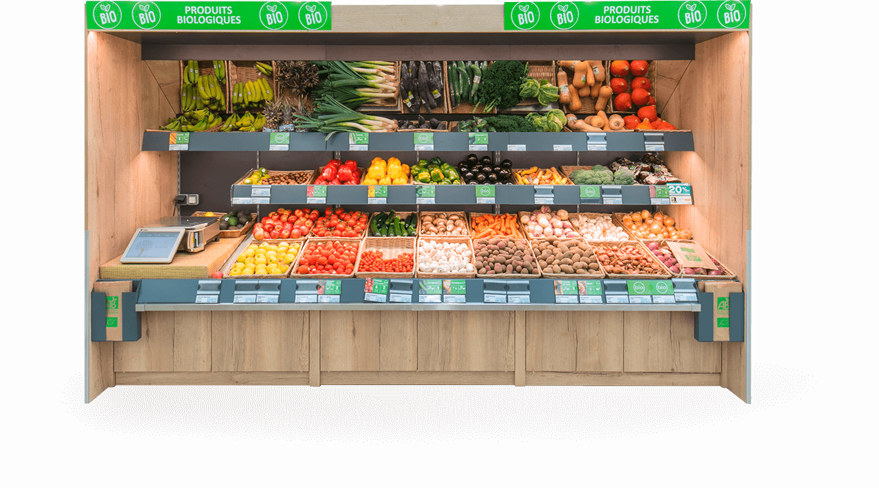 Le mobilier fruits et légumes d'Evéma Agencement